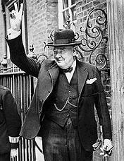 Portre of Churchill, Winston