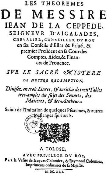 Portre of La Ceppède, Jean de