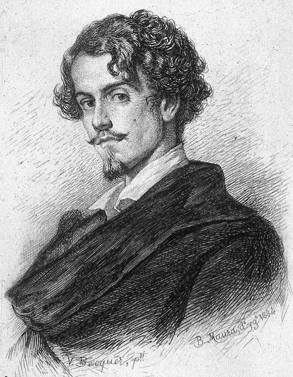 Portre of Bécquer, Gustavo Adolfo