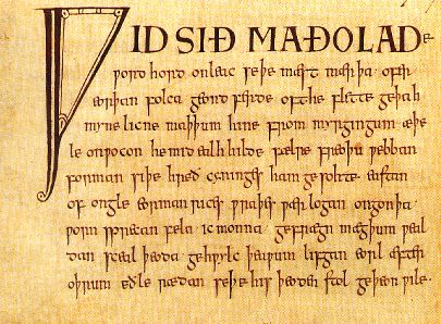 Portre of Riddles, Anglo-Saxon