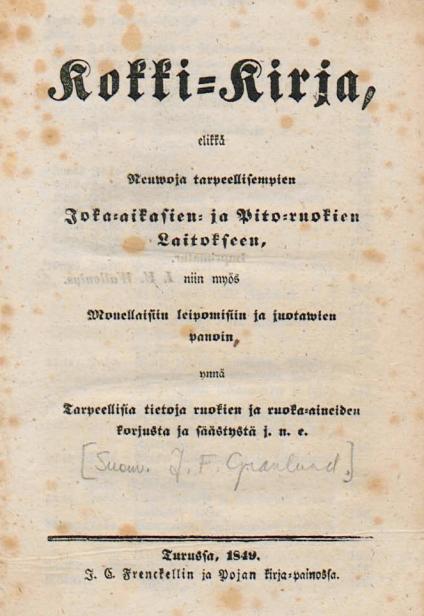 Portre of Granlund, J. F.