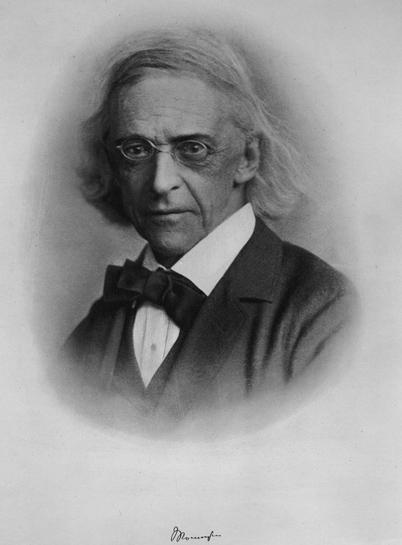 Portre of Mommsen, Christian Matthias Theodor