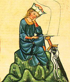 Portre of Vogelweide, Walther von der