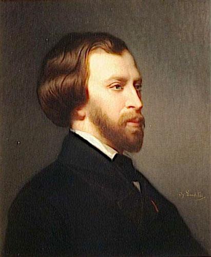 Portre of Musset, Alfred de