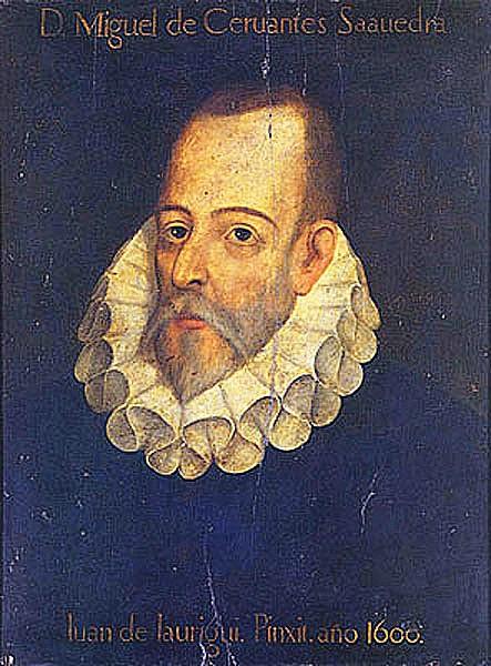 Portre of Cervantes Saavedra, Miguel de