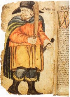 Portre of Skallagrímsson, Egill